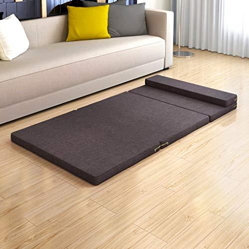 Tri-Fold Opvouwbare gymnastiekmat, fitnessmat, opvouwbaar, multifunctionele matras, waterdicht, met handgrepen, kantoor, pauze, fitnessmat voor thuis 60 * 200 * 5.5cm A04