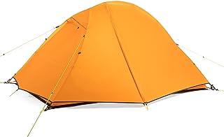 Tent خفيفة التخييم خيمة 2 شخص مع 2 أبواب سهلة إعداد طبقة مزدوجة للماء 3 خيمة الموسم للمشي ركوب الدراجات Instant Tent
