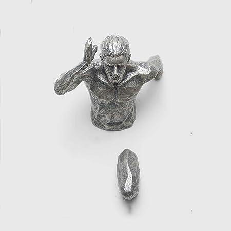 YB&GQ Creativo Hombre Desnudo Decoración De Pared Escultura ...