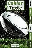 Cahier De Texte Rugby: Pour ado garçon primaire collège et lycée / Pour la rentrée scolaire 2021-2022 / Pratique pour noter les devoirs et les leçons / Ballon
