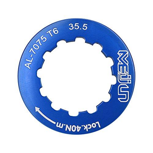 Dilwe Volant Moteur, Couvre-Anneau Ultra-Léger, Couvercle de Serrure à Cassette Couvercle de Chaine de Bicycle Bague de Verrouillage pour Vélos de Route(Bleu)