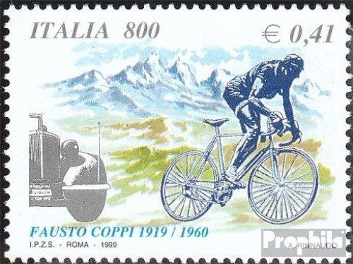 Prophila Collection Italien 2639 (kompl.Ausg.) 1999 Fausto Coppi (Briefmarken für Sammler) Fahrräder