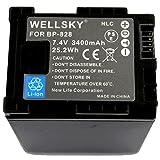 NLC BP-828 互換バッテリー 3400mAh [ 純正充電器で充電可能 残量表示可能 純正品と同じよう使用可能 ] キヤノン iVIS アイビス HF G40 XA20 XA25 XA40 XA55 HF G21 XF405 XF400 HF G50