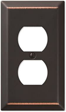 AMERELLE Century 163DDB Traditional Steel Wallplate with 1 Duplex, Aged Bronze, Outlet
