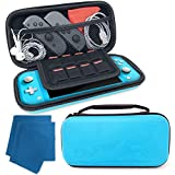 Pixiss Carrying Case for Nintendo Switch Lite with Ultra Slim Portable Hard Shell Pouch Travel Game Bag for...