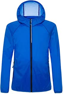 Men's Softshell Coat, Couple Breathable Jacket Summer Outdoor Sunscreen Windbreaker for Running Cycling Fishing and Travelling,Blue,4XL