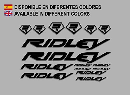 Ecoshirt DL-ULCV-OH04 Aufkleber Ridley Bike F133 Stickers Aufkleber Decals Autocollants Adesivi, schwarz