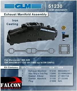 MERCRUISER EXHAUST MANIFOLD 5.0L & 5.7L (CAST IRON) | GLM Part Number: 51230; Mercury Part Number: 860246Q11