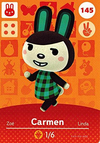 Nintendo Animal Crossing Happy Home Designer Amiibo Card Carmen 145/200 USA Version