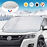 Car Windshield Snow Ice Cover, UBEGOOD Car Windshield Protection for Snow, Ice, Sun, Frost Defense, 4 Layers Extra Large Windshield Cover Fits for Most Cars, SUVs and Trucks