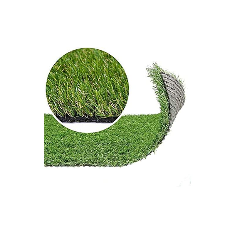 silk flower arrangements artificial grass turf lawn, 0.8inch realistic synthetic grass mat, indoor outdoor garden lawn landscape for pets,fake faux grass rug with drainage holes 5ft x12ft(60 square ft)