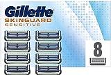 Gillette Skinguard Sensitive Lames de Rasoir Homme, Pack de 8 Recharges [OFFICIEL]