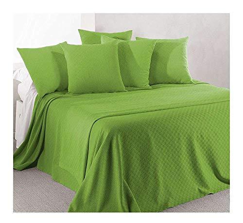 Caleffi Rodeo Tagesdecke aus Piqué-Baumwolle, nicht gesteppt, für Doppelbett, grün