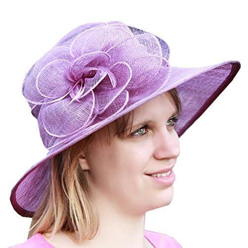 Charmoni Capeline-Cappello di Sisal Polat cerimonia donna in lino, taglia unica