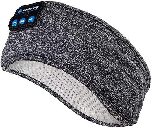 Questa life Bluetooth Headband Wireless Sleep Headset, Ultra-Thin HD Stereo Speakers, Very Suitable for Sleep, Exercise, Jogging, Yoga, Insomnia, air Travel, Meditation,Gray