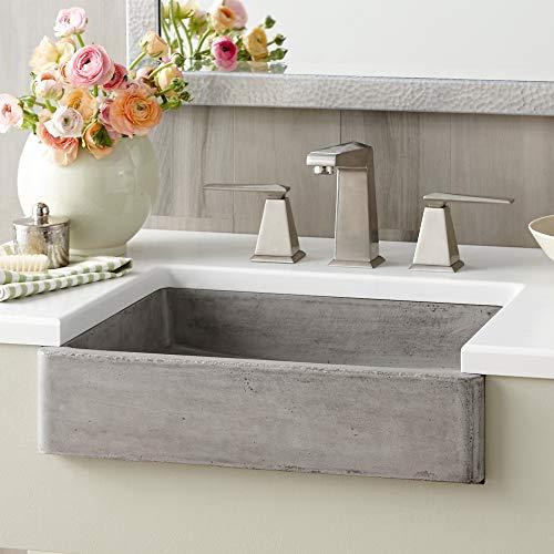 Native Trails NSL1915-A Nipomo Native Stone Universal-Mount Bathroom Sink, Ash