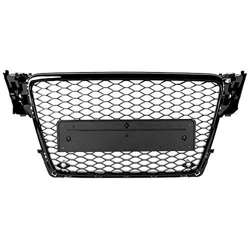 Griglia paraurti, griglia paraurti anteriore per auto griglia modifica auto griglia nera per auto paraurti griglia per paraurti per A4 / S4 B8 2009-2012 (nero)