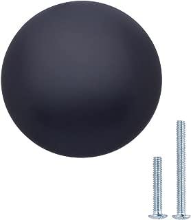 AmazonBasics AB100-FB-25 Cabinet Knob, 1.18-Inch, Flat Black