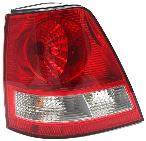 JP Auto Outer Tail Light Compatible With Kia Sorento 2003 2004 2005 2006 Driver Left Side Taillamp