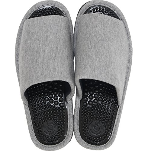 オカ 洗える 健康スリッパ ユニセックス LLサイズ 足のサイズ約25.5cm〜26.5cm グレー