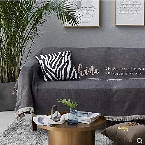 QXbecky Nordic Sofa Towel Full Cover Sofa Single Sofa Cover Sofa Cover Single Double line Blanket Simple ins Style