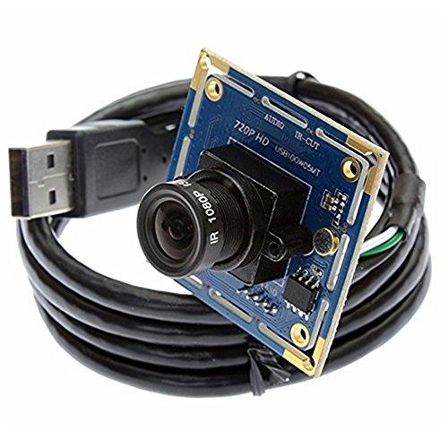 ELP Webcam ELP-USB100W05MT series OV9712 Sensor 1MP 720P USB camera (2.1mm lens)