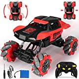 RC Car, Drift Climber Rock Crawler, 1:18 Remote Control Monster Truck Off-road 4x4 2.4Ghz RC Stunt Car, 360° Flip Crawler Vehicle Remote Control Car with Strong Powerful Steering Wheel for Kids Adults