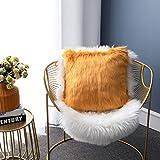 LIGICKY - Funda de almohada de piel sintética suave, cuadrada, decorativa, de felpa, para sofá, cama, camel de 18 x 18 pulgadas