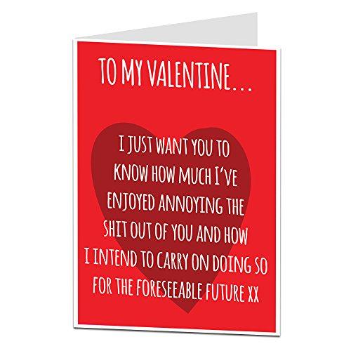 LimaLima Funny Valentine's Card Alternative Annoying You Valentine Message
