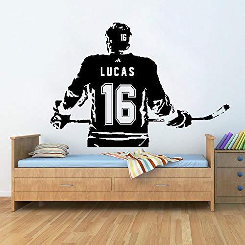 yaonuli kunststickers voor hockeys, individuele naam, vinylkeuze, naam en nummer van jersey
