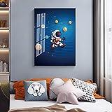 Impresión de póster de dibujos animados de la Vía Láctea, cohetes, astronautas, carteles modernos, pintura, cuadro de pared para sala de estar, decoración para dormitorio infantil, 40x60cm sin marco