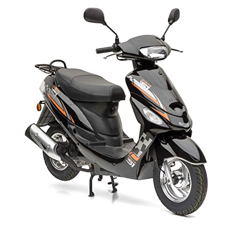 Nova Motors City Star ie 50 schwarz-orange Euro 4-25km/h Mofa - fahrbereite Lieferung inklusive