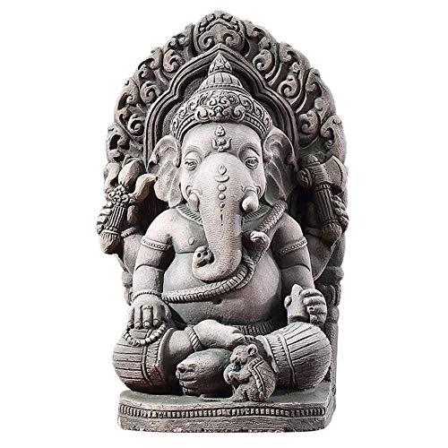 JSMY Escultura de Buda,Escultura de Arena de Ganesha,Tallado en Piedra,artesanía,Estatua de Buda,Piedra Arenisca,Escultura de Elefante,Figura Fengshui,decoración del hogar