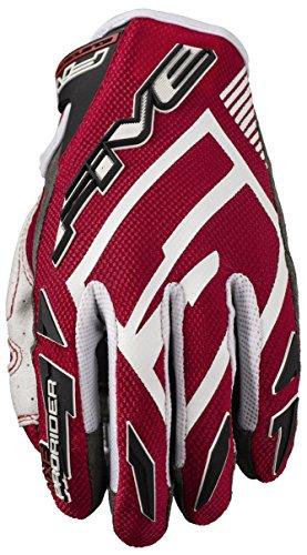 Five Advanced Gloves MXF Pro Rider S Erwachsene Handschuhe, Rot/Weiß, Größe 12