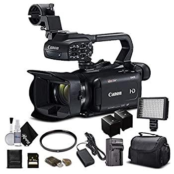 Canon XA11 Compact Full HD Camcorder 2218C002 with 64GB Memory Card Extra Battery and Charger UV Filter LED Light Case and More - Starter Bundle