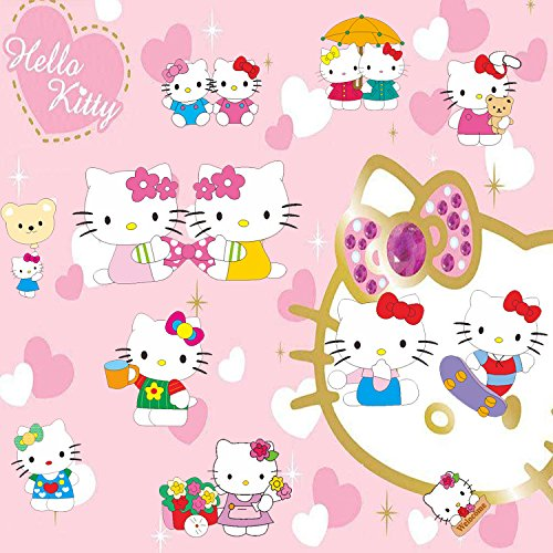 Assemble Peel and Stick Decal Stickers for Wall, Luggage and More. Kitty
