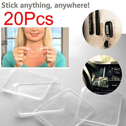wokee Super Sticky Gripping Pad Clear Double-Sided Adesivo Lavabile per la Cucina di casa