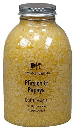 Totes Meer Natur Badesalz PFIRSICH & PAPAYA 630 gr. beduftet mit hochwertigen Parfümölen