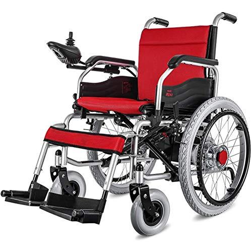 Leichte Doppelfunktion Faltbare Elektro-Rollstuhl (Mit 20A Lithium-Batterie), Drive Mit Elektrischer Energie Oder Zur Verwendung Als Manuellen Rollstuhl