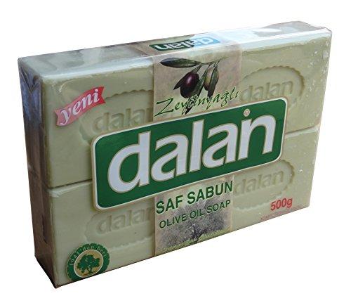 Turkish Olive Oil Soap Dalan (Four Bars per set, 500 grams in total) Each bar 125 grams