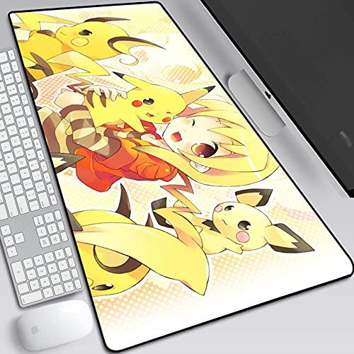 Tapis de souris Pokémon Pikachu - Grand tapis de souris de jeu personnalisé - Le meilleur compagnon de bureau pour les jeux, le bureau et l'étude, D