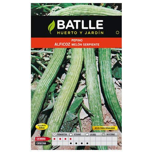 ScoutSeed Semillas hortícolas de Batlle - Pepino Alficoz - Melón sepiente (2g)