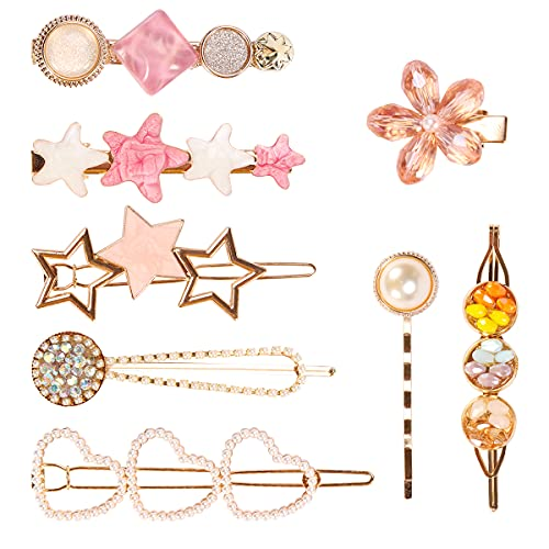 REHTRAD 8 in 1 Set Pearl Hair Clips for Women,Hair...
