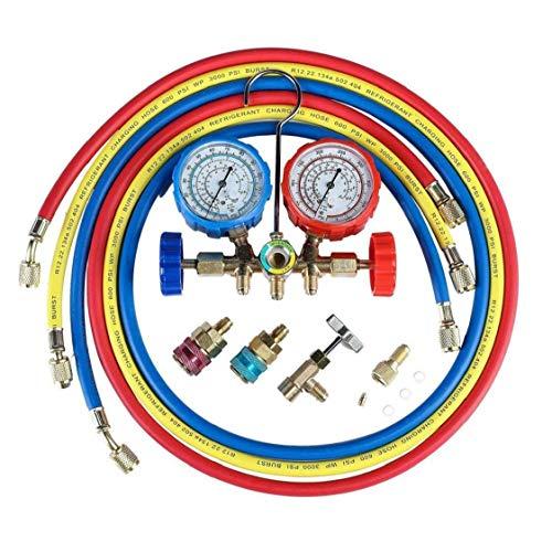 AC Diagnóstico De Manómetros Conjunto Refrigerante De Aire Acondicionado Fluoruro La Presión del Calibrador del Probador
