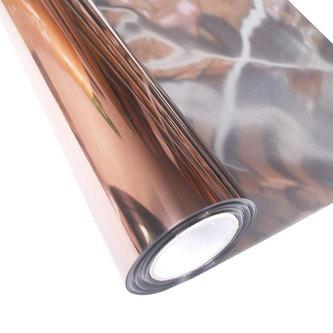 種をまく偏差電池OUPAI 窓フィルム ブラウン反射ウィンドウフィルムソーラーコントロールガラスステッカープライバシー一方向ミラーフィルム用ホームおよびオフィス用熱制御フィルム78.7×23.6インチ ガラスフィルム