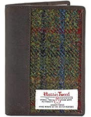 Harris Tweed y Porta Pasaporte de Cuero Caja