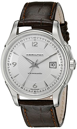 Hamilton Jazzmaster Viewmatic Herren-Armbanduhr 40mm Armband Leder Gehäuse Edelstahl Automatik H32515555
