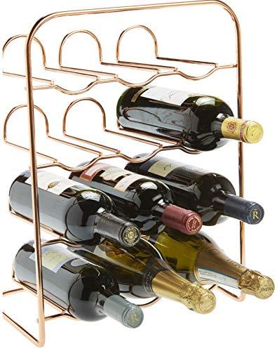 RTA Weinregal für 12 Flaschen, Metall, Roségold