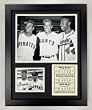 Legends Never Die Hank Aaron, Roberto Clemente and Willie Mays Framed Photo Collage, 11 by 14-Inch