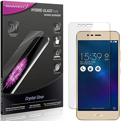 SWIDO Panzerglas Schutzfolie kompatibel mit Asus Zenfone 3 Max (ZC520TL) Bildschirmschutz-Folie & Glas = biegsames HYBRIDGLAS, splitterfrei, Anti-Fingerprint KLAR - HD-Clear